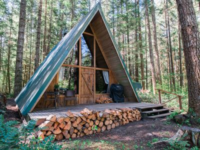 Photo for New Rental! Modern A-frame in wooded wonderland