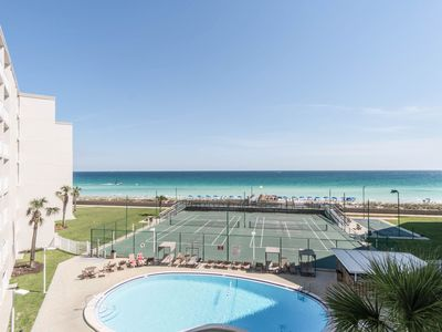 Photo for Holiday Surf And Racquet unit 411- beach front with AWESOME views of the Gulf