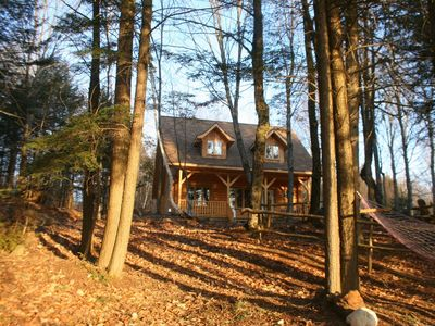 Photo for Beautiful Log Home on Quiet Private Lake