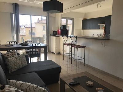 Photo for Bright & Spacious 55m2 Apartment in the Center of Antibes