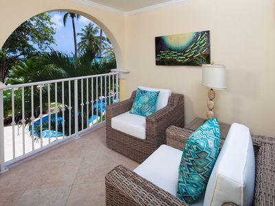 Photo for Modern Beachfront Condo with Pool - Sapphire Beach 116