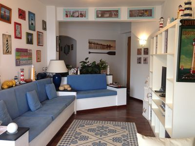 Photo for Seafront, 80 SQM + large terraces, direct entrance to the seaside promenade. WIFI