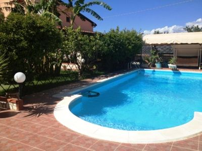 Photo for House in the center of Balestrate with Pool, Parking, Washing machine (418196)