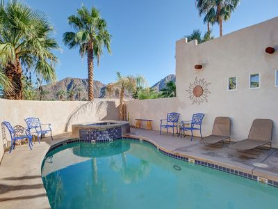 Photo for Inviting home w/ private pool & hot tub, fireplace, grill, & great patio
