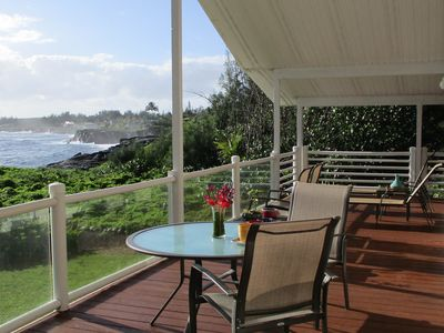 Photo for Oceanfront home on the cliffs w/ stunning views, deck & amazing sunrises!