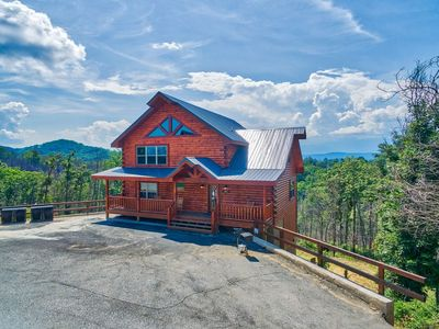 Photo for LOCATION!  PREMIER 3 LEVEL CABIN NEAR DOLLYWOOD!AMAZING VIEWS BEST LOCATION!!