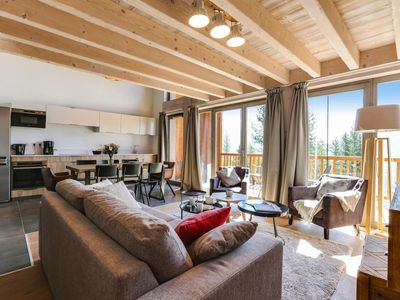 Photo for Surface area : about 79-95 m². View mountain. Living room with bed-settee