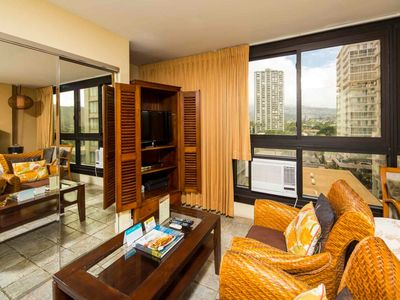 Photo for Has It All! Kitchenette, Sleep/Dine/Living Areas, TV, AC, WiFi–Waikiki Grand 722