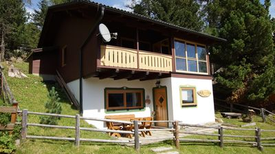 Photo for Well-being hut on the mountain pasture for relaxing in the mountains with sauna, all year round. aim