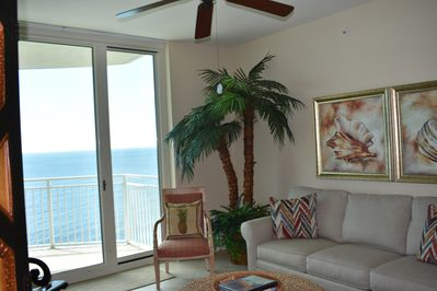 Enjoy the view of crystal  waters from the family room.