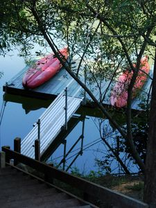 Photo for Mojo's Lair Riverfront Retreat, Private Dock, Kayaks/tubes, Large, fenced lot