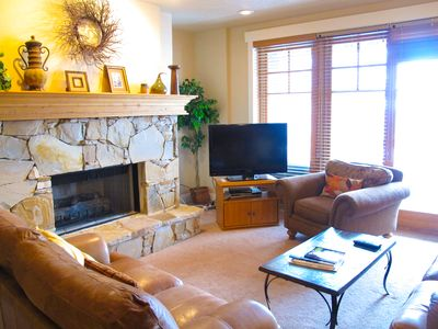 Photo for Luxury condo with spa on deck, one block away from Town Lift!! Dream come true!