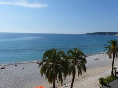 Photo for The Provençal: Appt (2-5pers) facing the beach & the turquoise sea! air conditioning