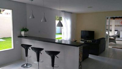 Photo for HOUSE OF BEACH IN MACEIÓ IN IPIOCA (COND. SAUAÇUHY) - 100 M FROM THE BEACH - C / SWIMMING POOL