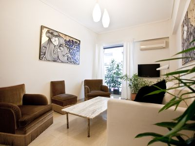 Photo for Neat, two bedroom apartment by Acropolis museum!