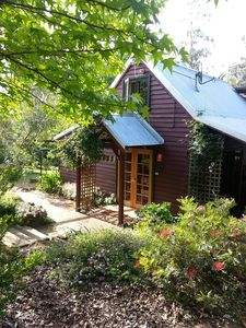 Photo for Quaint Gumnut Cottage. Views over river to country side adjoining forest.