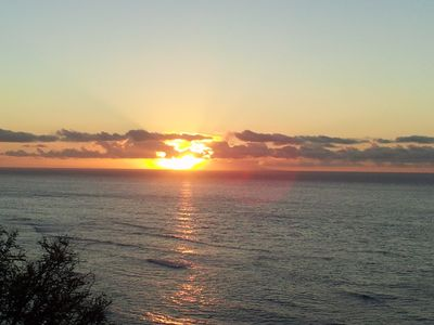 Sunrise at Diamond Head - just a 5 minute walk from house