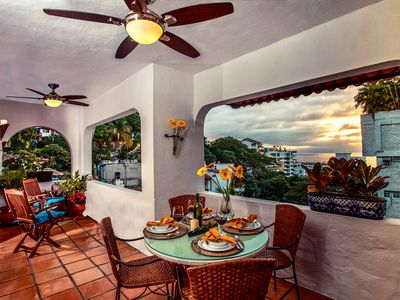 Photo for Charming Romantica Zone condo-ocean and mountain views-minutes from the beach!