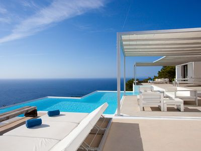 Photo for Stunning views in this design seafront villa for up to 14 people
