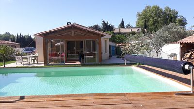 Photo for Villa 20 km from Aix en Provence, quiet in the countryside.