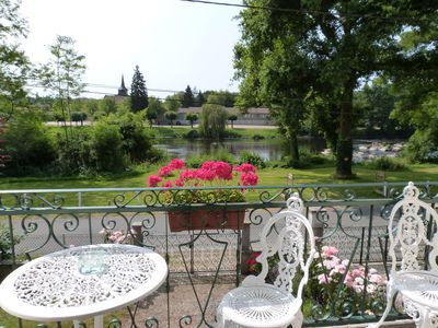 Photo for La Garenne, 3 Star Riverside Gite with village views from Vienne River Vacances