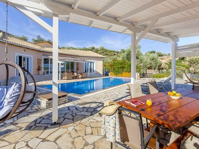 Photo for Early Bird Offer : Villa with Panoramic Sea Views and private pool, in Lefkada
