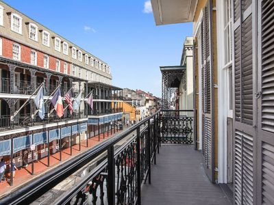 Photo for Balcony over Bourbon St Entertainment District-Heart of the French Quarter