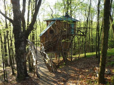 Photo for Vermont Treehouse: The Hermit Thrush Treehouse, Spend A Weekend In The Trees