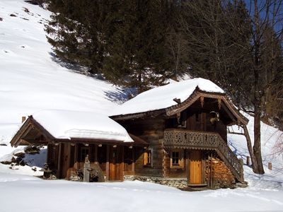 Photo for New chalet built in traditional style, surrounded by meadows and forests. The chalet is centrally lo