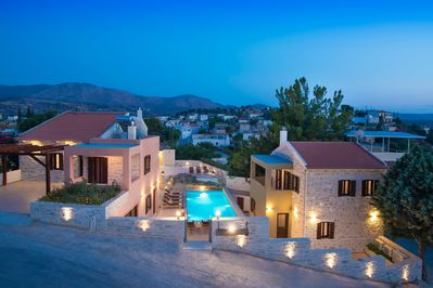 Phaistos villas small scale resort complex early evening