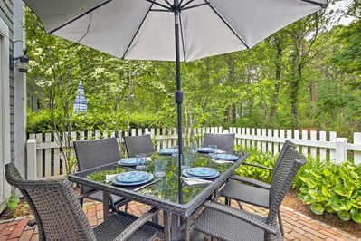 Explore the beauty of Mashpee from this Maushop Village vacation rental condo.