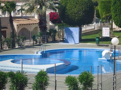 Photo for Lovely south facing 2 bed Quad Villa with massive roof terrace and fabulous sea