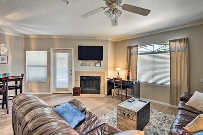 Enjoy the open living spaces of this 2-bed, 2-bath Scottsdale home.