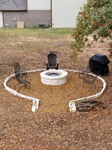 Fire pit with propane grill!  Enjoy your evenings!