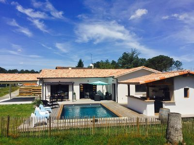 Photo for New house with calm swimming pool near bassin d'arcachon and vineyard bordelais