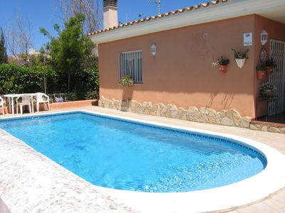 Photo for House with private pool 200m from the beach Riumar