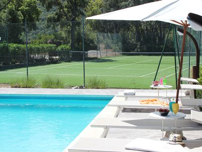 Photo for Villa with large garden, private pool and private tennis court