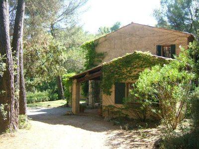 Photo for Provencal Country Villa with heated pool and views, private, sleeps 8, air-con.
