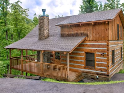 Photo for Dog-friendly mountain cabin offers great location, private hot tub, & much more!