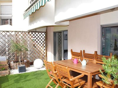 Photo for Terrasse Ourcq apartment in 19ème - Buttes-Chaumont with WiFi, private terrace & lift.