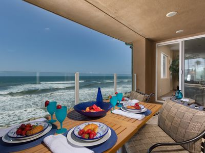 Photo for Stunning Luxury Beachfront, A/C, Oceanfront Master Suite, Views