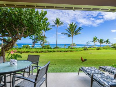 Photo for Kaha Lani #121, Oceanfront, Steps to Beach, Sunrise Views from Private Lanai