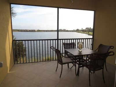 Lanai with stunning lake views