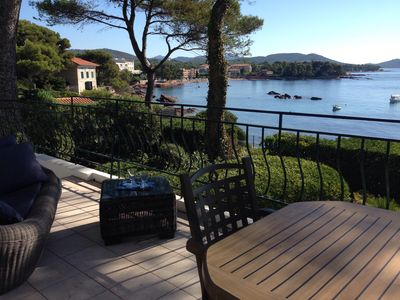 Photo for WATERFRONT Villa with pool in Saint Raphael breathtaking sea view