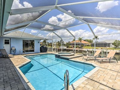 Photo for Cape Coral Canal Home w/ Dock & Pool - Near Gulf!
