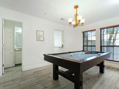 Photo for NEW LISTING! Modern townhome w/ a pool table, full kitchen, & enclosed yard!
