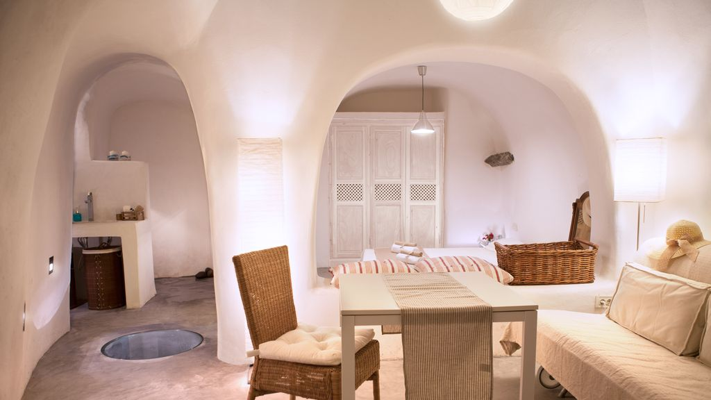 property image santorini traditional old winery cave house with exterior jacuzzi bioclimatic