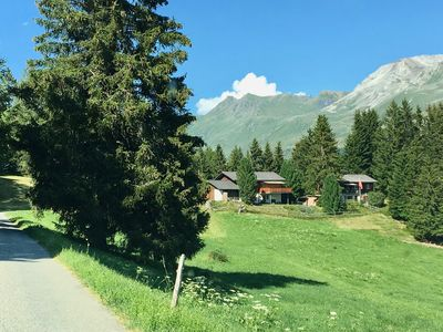 Photo for Cozy 3 BR 1BA Apartment in a Chalet in the Swiss Alps with unobstructed views