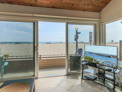 Photo for Front Row Seat on one of the Best Beaches in Newport! Oceanfront one bedroom!
