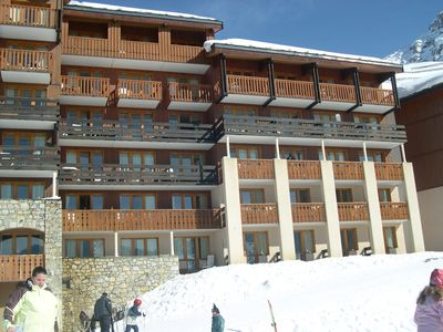 Photo for Belle Plagne 5 people slopes parking included